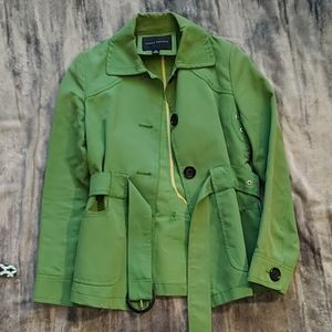 Banana Republic grass green pea coat